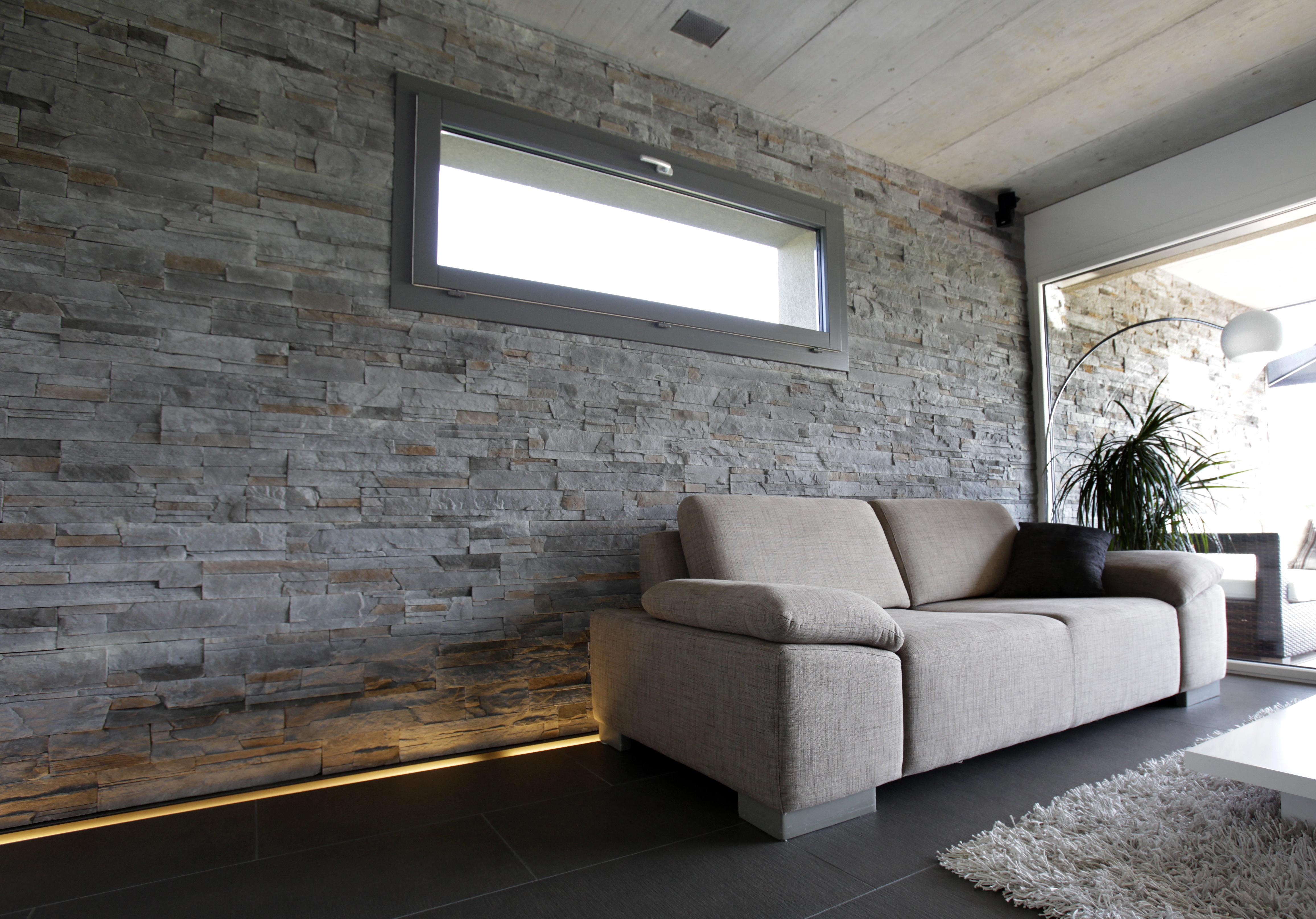 moderne steinw nde wohnzimmer. Black Bedroom Furniture Sets. Home Design Ideas